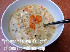 fit in the kitchen: chicken and wild rice soup