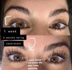 Eyelash Serum This serum is all natural infused with rich vitamins and oils that help your lashes grow 2 Get Long Eyelashes, How To Grow Eyelashes, Longer Eyelashes, Thicker Eyelashes, Long Natural Eyelashes, Beautiful Eyelashes, Beauty Care, Beauty Skin, Beauty Hacks