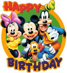 Buy 1 And Get FreeCoupon BOGO18 Disney Characters Happy Birthday Cross Stitch Pattern Counted Cro
