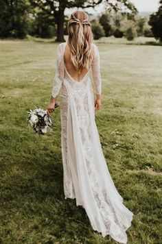 Long Sleeves Wedding Dresses Boho 2018 Exquisite Lace Backless Chic Wedding Dress Bridal Gowns Robe De Mariage 2018 I can say only. Long Sleeve Wedding Dress Boho, Chic Wedding Dresses, How To Dress For A Wedding, Lace Wedding Dress With Sleeves, Lace Bride, Backless Wedding, Cheap Wedding Dress, Bridal Dresses, Wedding Gowns