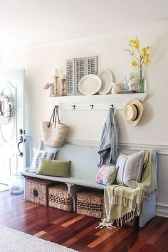 My home decorating for Spring- A bit romantic modern and farmhouse with a rustic flair. Sitting room living room dining room and kitchen tours. Cozy Living Rooms, Living Room Kitchen, Living Room Decor, Dining Room, Sitting Rooms, Küchen Design, Interior Design, Design Ideas, Interior Ideas