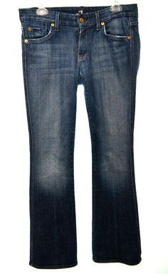 7 SEVEN FOR ALL MAN KIND Womens 29 8 Dark Wash Stretch Bootcut Denim Jeans  #7ForAllMankind #BootCut