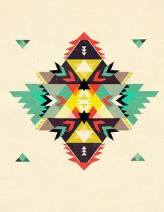 Patternatic, jaimesuedois: Geometric Postcards by Shawna