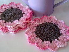 Porta Copos Flowers com Barbante e Duna!
