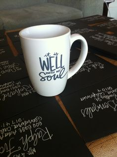 Mother's Day Gift Idea: It is well with my soul mugs by laurenish design Dishwasher and Microwave safe : $12 click here to buy now