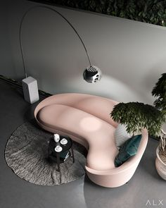 Curved sofas, for a modern living room, are trending in the interior design world this year. Large or small, sober or vibrant colors, the retro-looking model has come back. Canapé Design, Sofa Design, Design Trends, House Design, Design Ideas, 2020 Design, Home Interior Design, Interior And Exterior, Interior Decorating