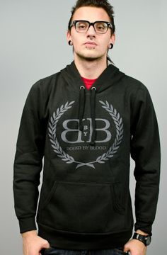 Royal Crest Pullover Hoodie (Black) by Bound By Blood