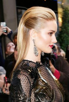 rosie huntington hairstyle