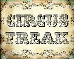 CiRCuS FReaK 8x10 inches printable wall decor by LandofEnchantment, $3.49