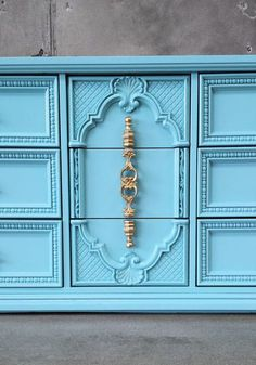 70s Solid Wood Hollywood Regency Carved Fronts by VintageRescues, $1100.00