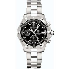 TAG Heuer Aquaracer Mens Black Automatic Chronograph Watch for Sale - Lowest Prices - Guaranteed Authentic - Free Worldwide Shipping - Since 1979 - Full Warranty on Watches Cool Watches, Watches For Men, Men's Watches, Sport Watches, Black Bracelets, Tag Heuer, Beautiful Watches, Watch Sale, Fashion Rings