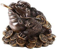 old bronze hand casting fortune frog statue netsuke jin chan tea pet tray deco