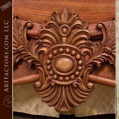 Hand Carved Walnut Bed: Fine Art Wood Carvings By Master Craftsmen - high relief acanthus leaf designer headboard and footboard with fine art quality finish Diy Solar System, Iphone Wallpaper Sky, Wood Carving Designs, Headboard Designs, Bedroom Furniture Design, Headboard And Footboard, Custom Wood, Bed Design, Craftsman