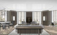 Autocad Layout, Interior Design Living Room, Living Room Designs, Private Room, Hospitality Design, House Rooms, Living Area, Living Rooms, Yabu Pushelberg