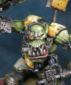 Ork Nob by Rafael García Marín (Volomir) · Putty&Paint Warhammer Figures, Warhammer Paint, Warhammer 40k Miniatures, Warhammer Armies, Warhammer 40000, Orks 40k, Advanced Dungeons And Dragons, Moon Painting, It Goes On