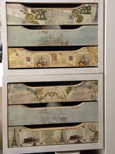 Los cachivaches de Luppa: Unas cajoneras de Ikea y algunas cajas más......