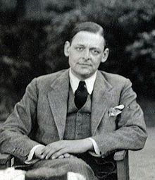 "T. S. Eliot  Thomas Stearns Eliot OM (September 26, 1888 – January 4, 1965) was a publisher, playwright, literary and social critic and ""arguably the most important English-language poet of the 20th century."" Although he was born an American, he moved to the United Kingdom in 1914 (at age 25) and was naturalised as a British subject in 1927 at age 39."