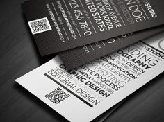 // Beautiful Use of Typography in These Business Cards //
