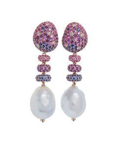 Margot McKinney Jewelry Carnivale Denim Blue Topaz Earrings with Diamonds 0K5RnTBuY