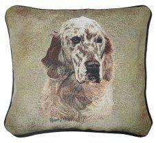 English Setter Tapestry Cushion Dog Cushions, Tapestry Design, Dog Design, Dog Owners, English Setters, Throw Pillows, Dogs, British, Animals