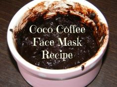Easy #antiaging facial mask using cocoa and coffee