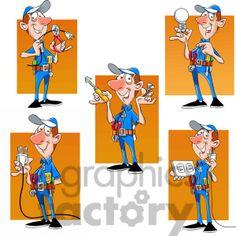 felix the cartoon handy man character clip art image set clipart. Handy Man, Man Character, Man Images, Cartoon Characters, Fictional Characters, Royalty, Commercial, Family Guy, Clip Art