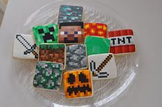 "My kids would love these ""Minecraft"" cookies! Their heads would explode...ssss BOOM!"