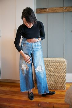 Rachael Wang with her Bliss And Mischief Song of the West Jeans