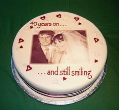 Maurice & Chris's 40th Wedding Anniversary Cake by Sweet Sensations (was primacakes), via Flickr