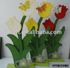Wood Flower Wooden Decoration Craft