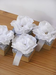 rose glitter box / party favor box /