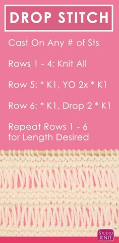 Discover thousands of images about How to Knit the Bamboo Stitch Easy Free Knitting Pattern with Studio Knit via Knitting Stiches, Easy Knitting Patterns, Knitting Charts, Lace Knitting, Knitting Designs, Knitting Projects, Stitch Patterns, Crochet Patterns, Knit Stitches