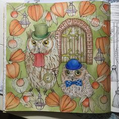 #rhapsodyintheforest #prismacolor #luminance #carandache #owl #forest…
