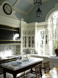 Kitchen Design Ideas. Like the cabinet and ceiling details.