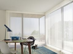 Explore the Hunter Douglas Photo Gallery for window-treatment ideas to match your style and needs. Woven Wood Shades, Fabric Shades, Door Window Treatments, Window Coverings, Home Office, Office Decor, Custom Drapes, Window Styles, Sliding Glass Door