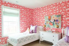 What a gorgeous colorful bedroom. House of Jade Interiors & kate osborne photography