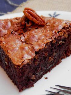 gâteau fondant chocolat et noix (