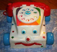 toy telephone cake