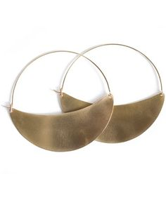XL Crescent Hoops