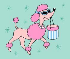 Pink Poodle goes shopping