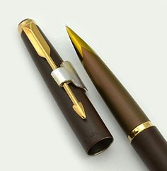 Parker 50 Falcon Fountain Pen - Brown, Fine 1970s (New Old Stock) Parker http://www.amazon.com/dp/B00L4JMF40/ref=cm_sw_r_pi_dp_4N8Ptb0X33M3Z2KY