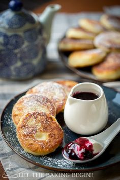 Ricotta Pancakes - Crispy on the outside, creamy on the inside it's hard to stop with just one. Paired with some sour cream and jam, you've got breakfast fit for a queen! by Let the Baking Begin!