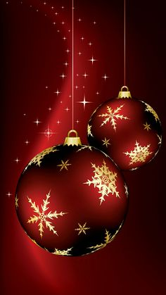 Beautiful red ornaments