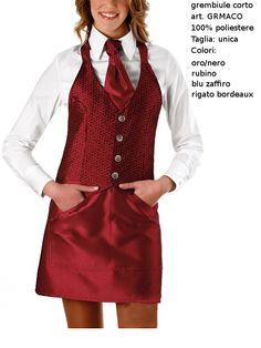 Ruby red pinafore, a color that can not leave indifferent. - Scamiciato rosso rubino con finto gliet, un capo di sicuro effetto.