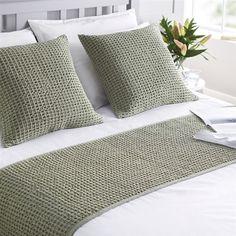 Hampton Runner Sage Green - Home Sweet Home! Sage Green Bedroom, Green Bedding, Black Bedding, Cotton Bedding, Dorm Bedding, Ikea, Green Bed Linen, Master Suite, Master Bedroom