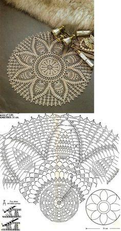 Mini Trellis Doily pattern by Adrienne R. Free Crochet Doily Patterns, Crochet Doily Diagram, Crochet Circles, Crochet Chart, Crochet Motif, Crochet Designs, Filet Crochet, Thread Crochet, Crochet Stitches