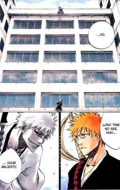 Ichigo vs Hichigo Sad Anime, Anime Nerd, Manga Anime, Anime Rules, Video Game Anime, Video Games, Shinigami, Bleach Anime, Manga Games
