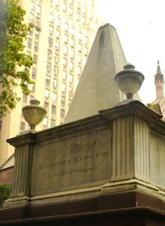 Alexander Hamilton's grave at Trinity Churchyard in New York City.