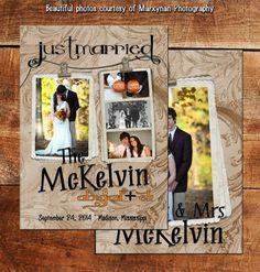 "Fancy Fancy Wedding Annoucement Card / We Said ""I Do"" Annoucement Cards / DM2973"