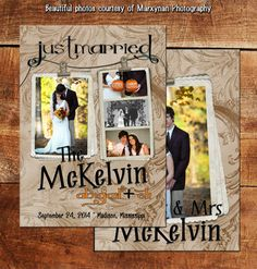 "Fancy Fancy Wedding Annoucement Card / We Said ""I Do"" Annoucement Cards / DM2973"